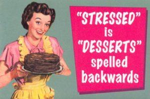 image stressed desserts